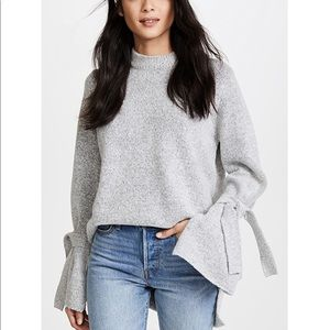 J.O.A sweater with tie sleeves